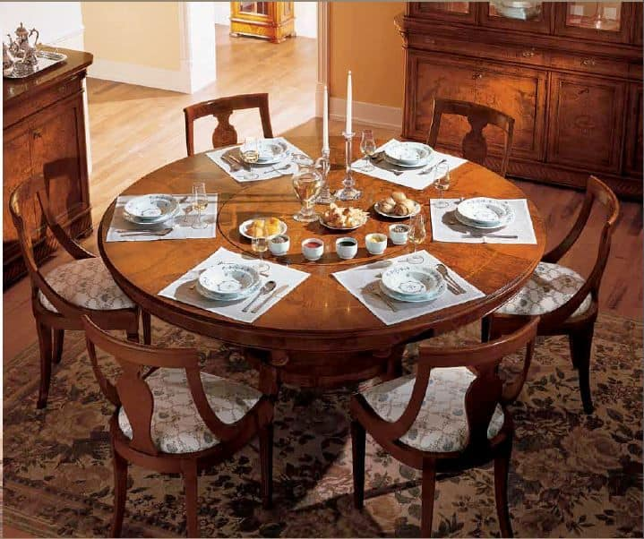 Art. 799/LZ, Dining table with round top