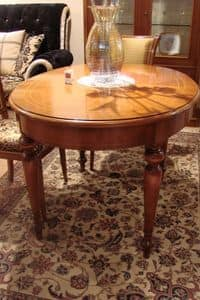Art. 802, Classic oval table suited for kitchens, extendable