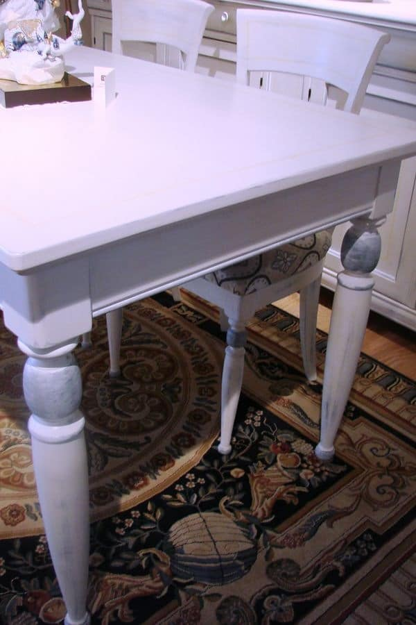 Art. 891, Lacquered rectangular table, for classic cuisine