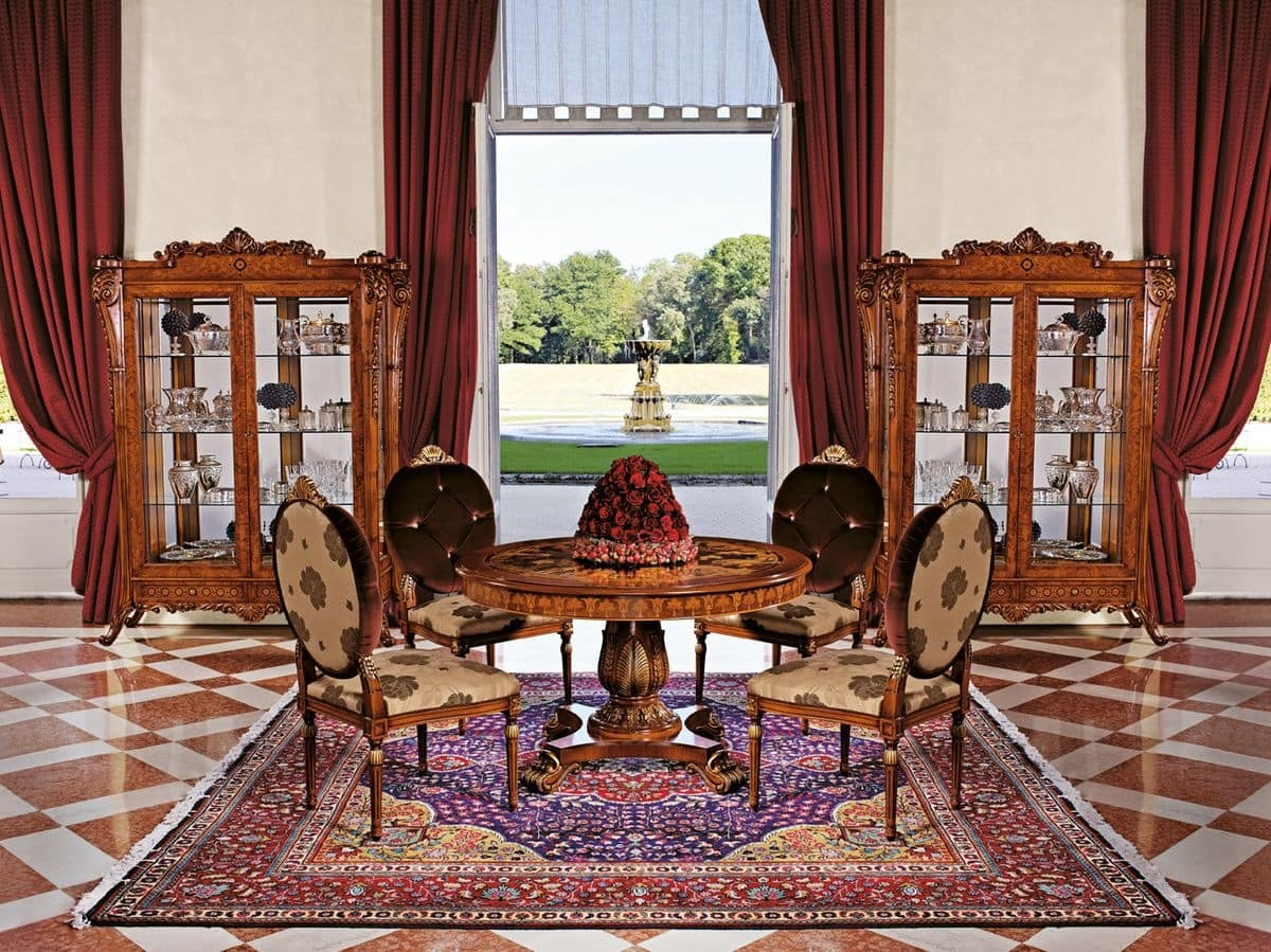 Art. 932, Round table for dining rooms, classic style