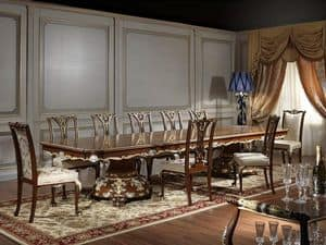 Art. 951/3 table Louis XV, Majestic table for dining room, Louis XV style