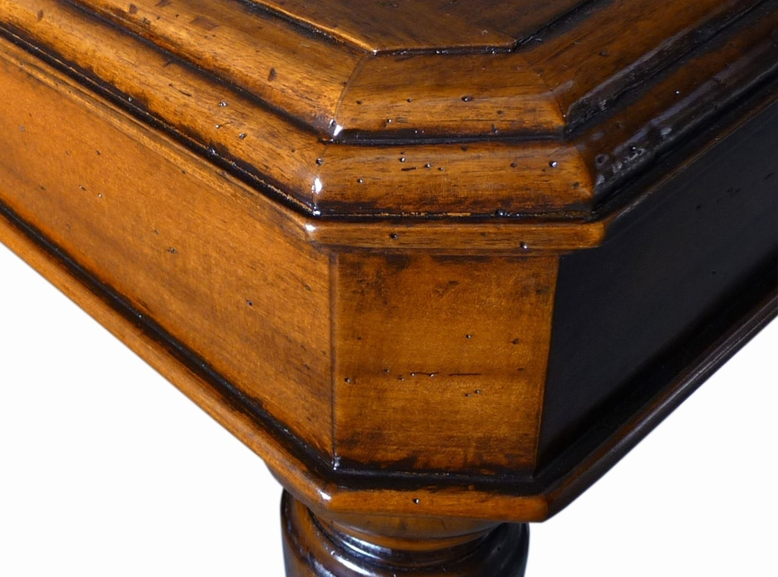 Bonifacio VS.0215, Rectangular table in walnut, extendable, turned legs