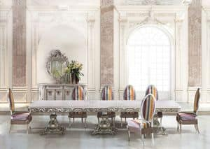 Calipso Diningroom, Long rectangular table for classic dining room