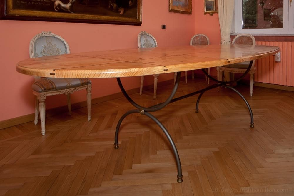 Cedar table, Table classic cedar scented, with inserts in walnut