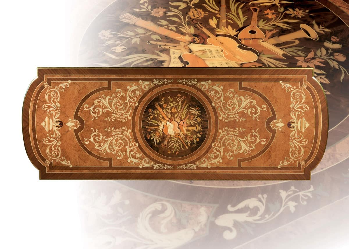 F500 Table, Table In Solid Hand Carved Wood, For Stays