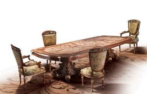 F800, Table inlaid by hand, for luxury villa