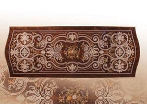 F972, Luxury table inlaid by hand, for villas