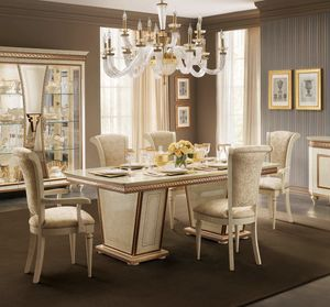 Fantasia rectangular table, Elegant dining table, extendable