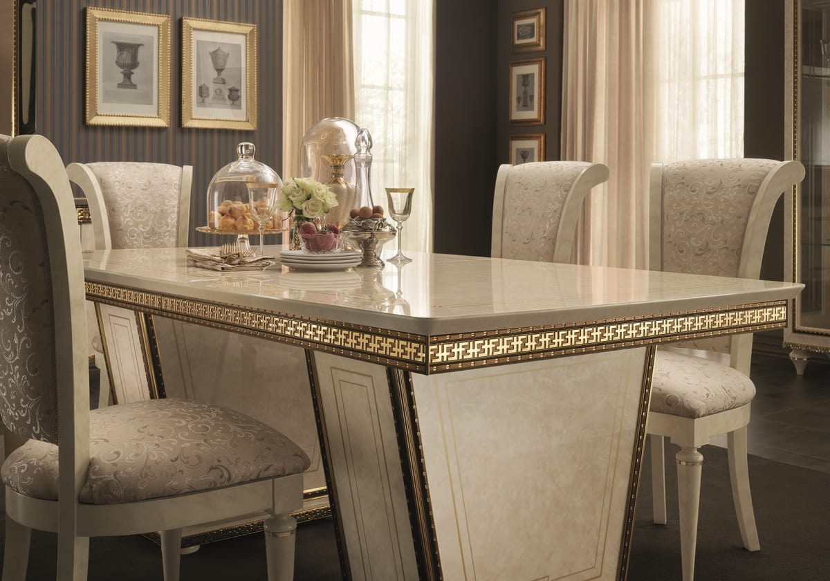 Fantasia rectangular table, Elegant dining table, extendable