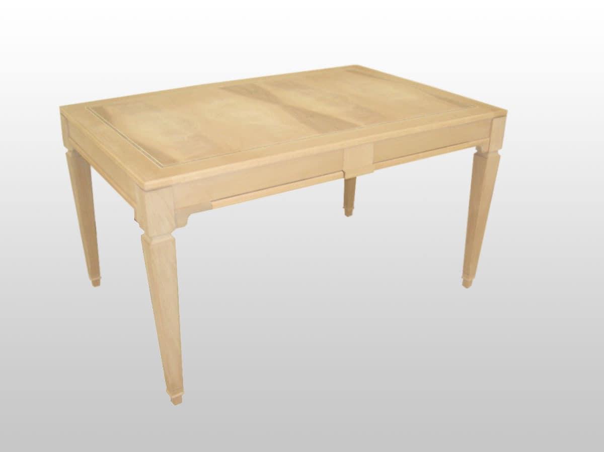 George, Extendable table in wood, veneered walnut top