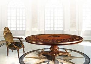 Hermitage ML/051/R, Classic table with round top