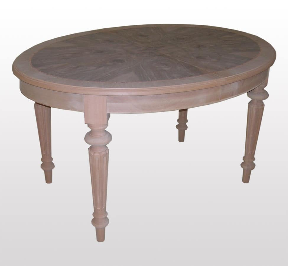 Hunt, Extendable table, oval, classic, for Dining Room