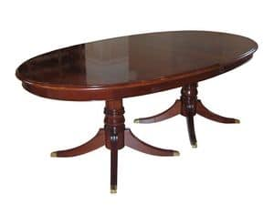 Langland, Classic extensible table, mahogany veneered