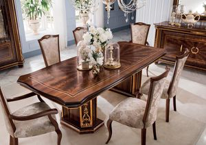 Modigliani rectangular table, Empire style dining table