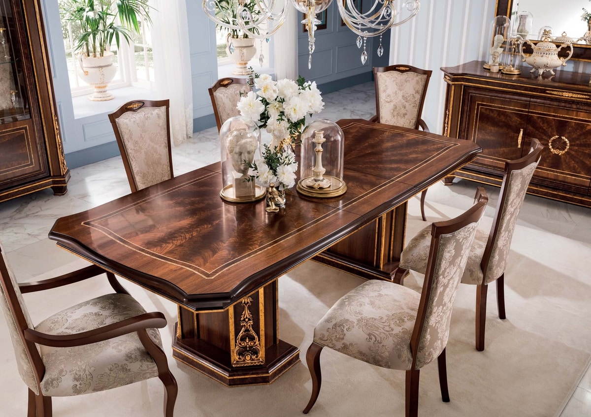 Modigliani rectangular table, Empire style dining table