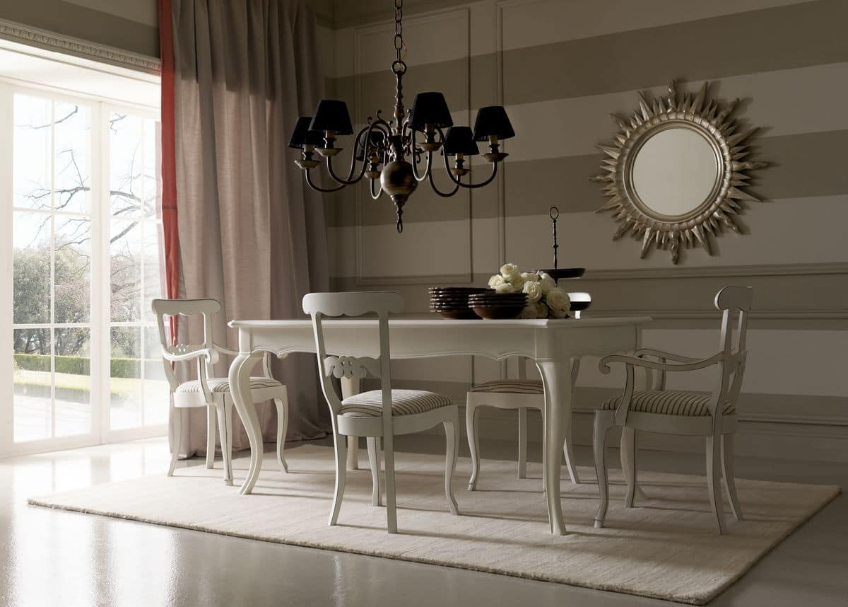 Table With Inlaid Top For Dining Room Idfdesign