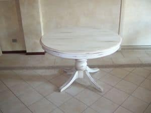 Mr. Burke, Extendable table with round top, classic style