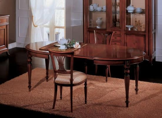 Opera extendable table, Extendable dining table, classic style