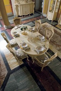 Opera oval table, Oval dining table, classic style