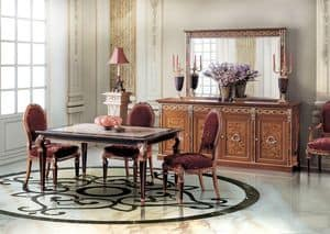 Paradise Diningroom, Rectangular table for dining rooms