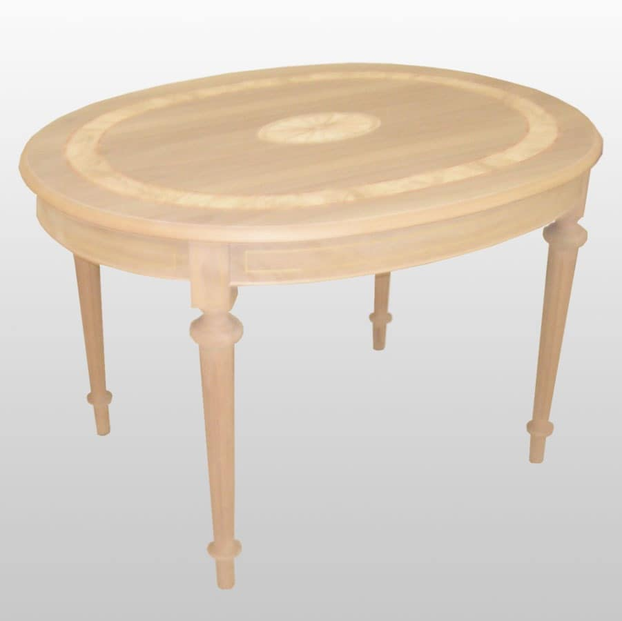 Percy, Oval table with extensions, classic luxury