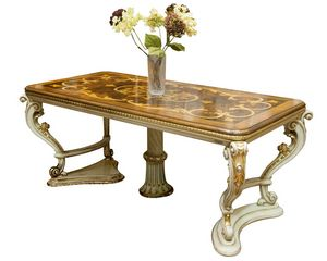 Russian Crown LU.0680, Carved, inlaid, extendable rectangular table