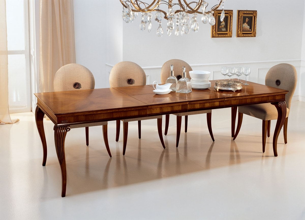 Saint Matré VS.5560, Extensible table in walnut, for hotels and restaurants