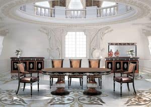 SivigliaVip, Oval dining table in classic luxury style