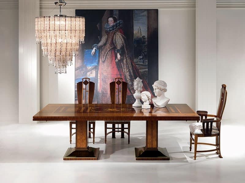 TA46 Luci della ribalta table, Extendible table, wooden, for classic furniture