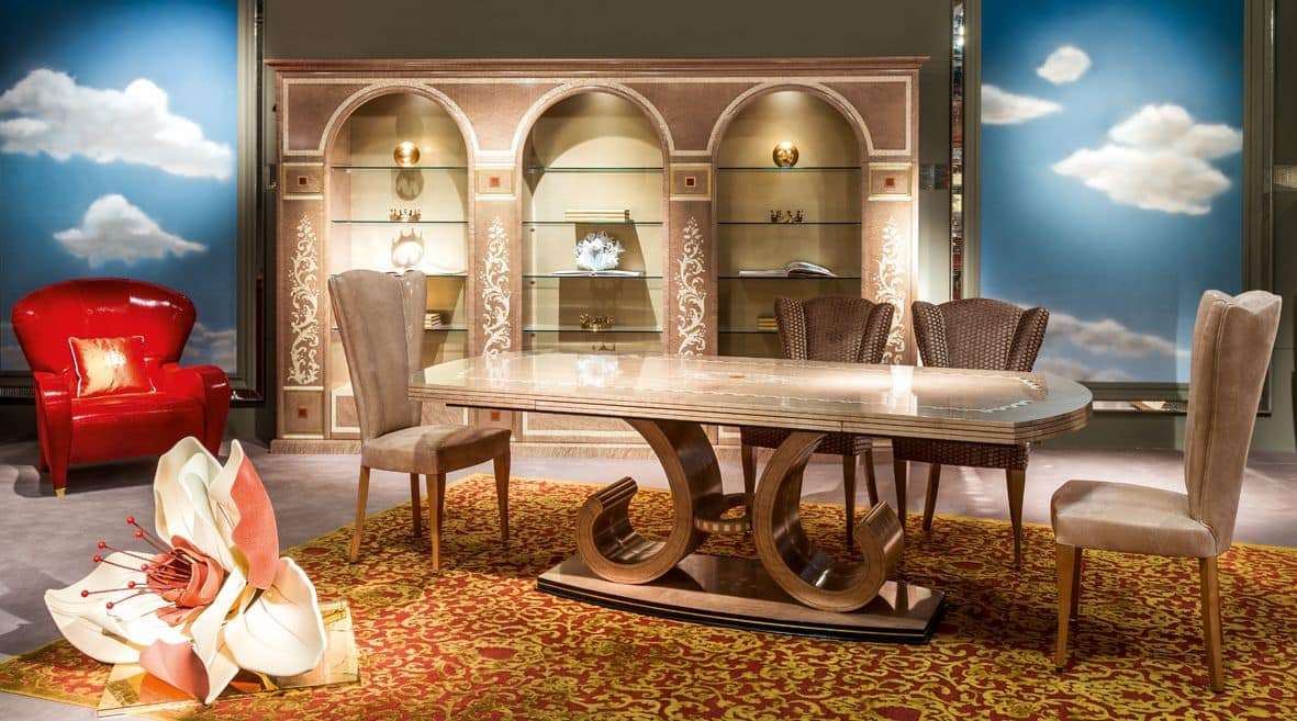 TA58 table, Extendable table for classic dining rooms