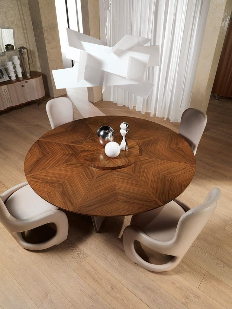 TA60 Desyo table, Round table suited for classic dining room