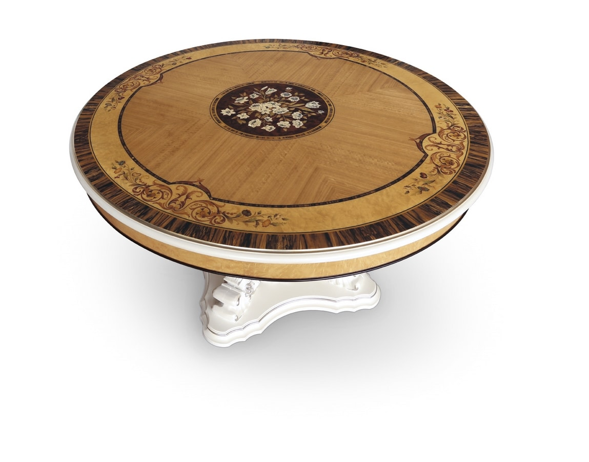 Table 1425, Classic luxury table with mother-of-pearl base