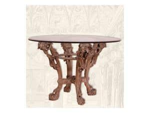 Table art. Sari, Dining table made of  handmade wood, Art Deco style