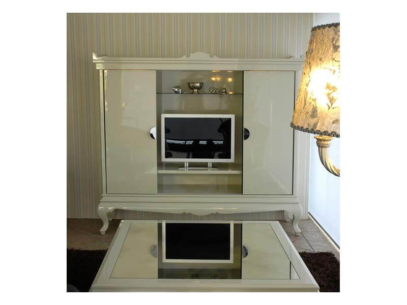 3520 TV STAND, TV stand in a contemporary style for hotel suites
