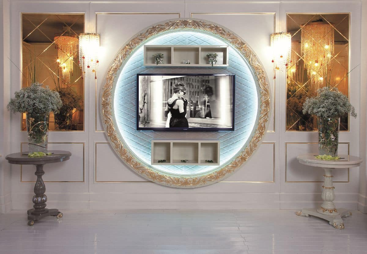 Art. 110, TV-stand, wall mounting, luxury classic style