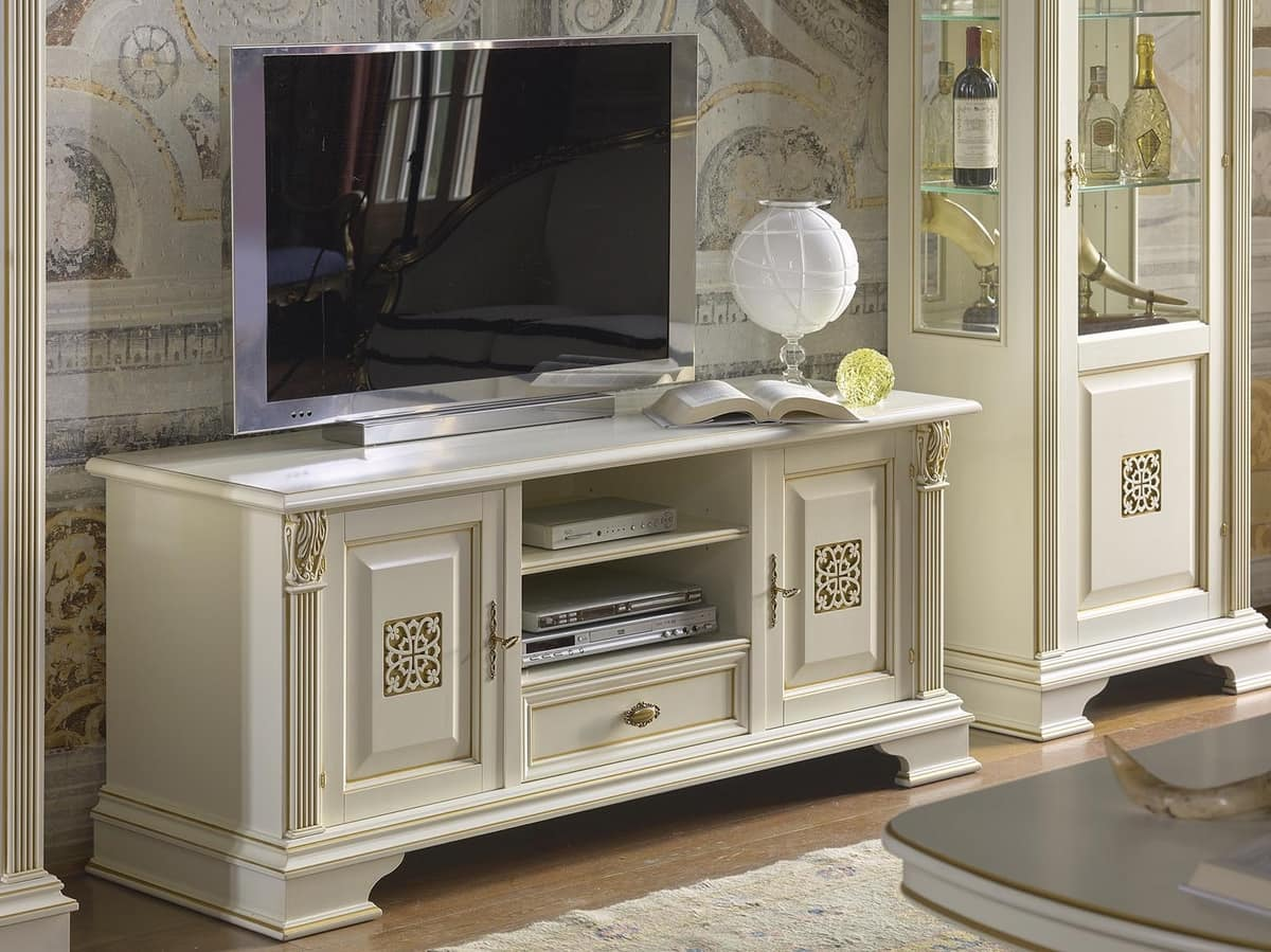 Art 42364 Puccini Tv Stand With 2 Doors And 1 Drawer In Luxury