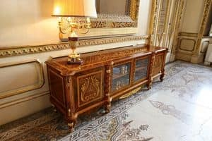 Art. 631/TV, TV cabinet, classically luxurious style, with carvings and inlays