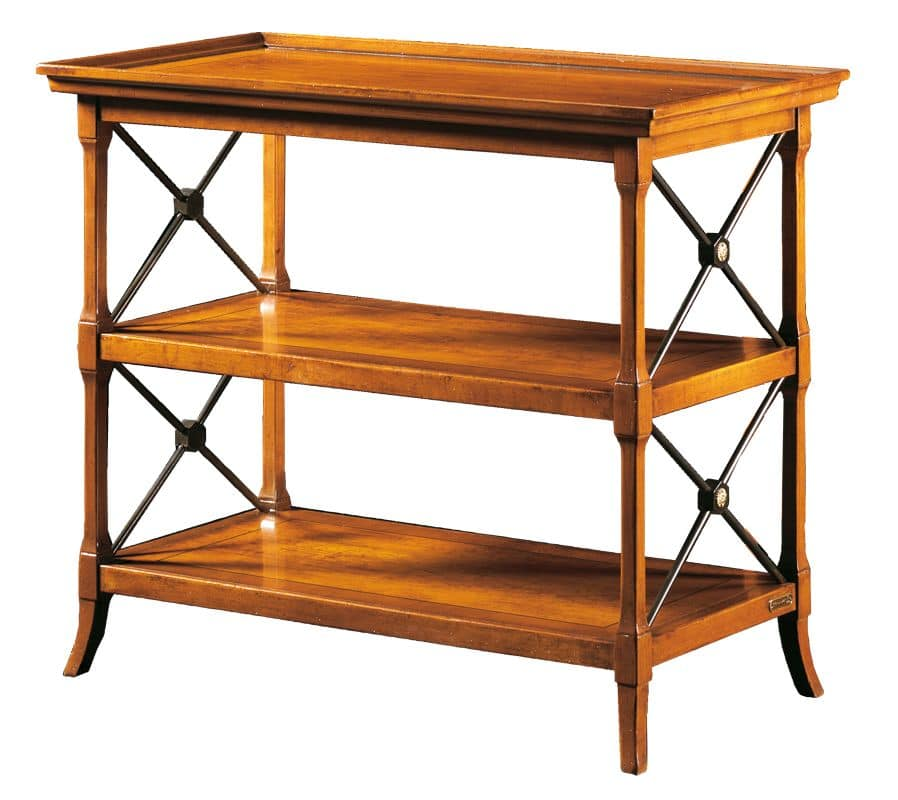 Iside FA.0089, TV stand with 3 shelves, in old style