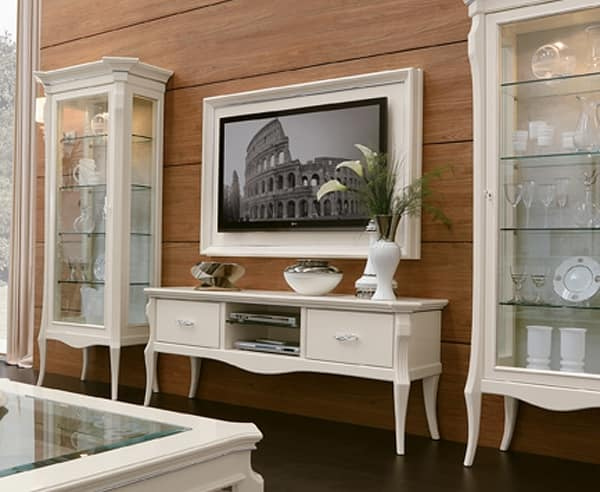 MONTE CARLO / suspended TV panel with frames, Wall-mounted TV panel