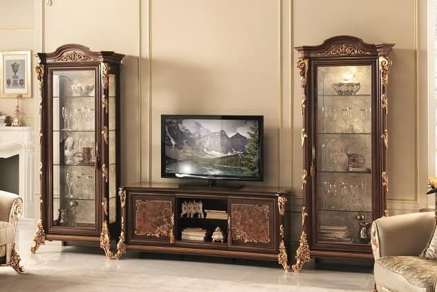 Tv Stand With Display Cabinet