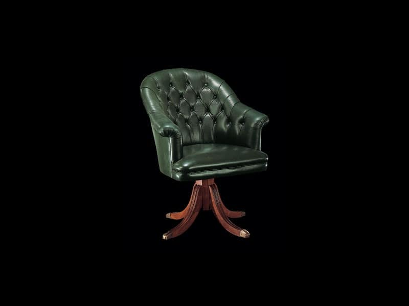 122P, Armchairs with capitonné padding