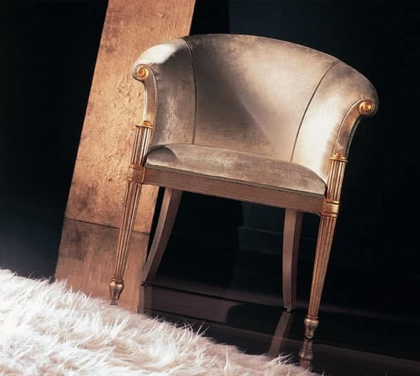 228P high, Armchair in decorated wood