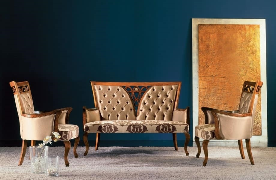 250P living room, Tufted armchair