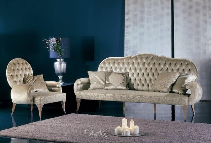 286P, Luxurious tufted backrest armchair