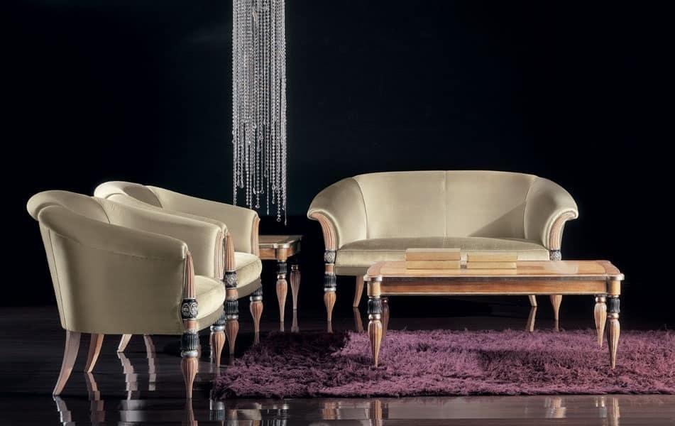 288P, Upholstered armchair for living room