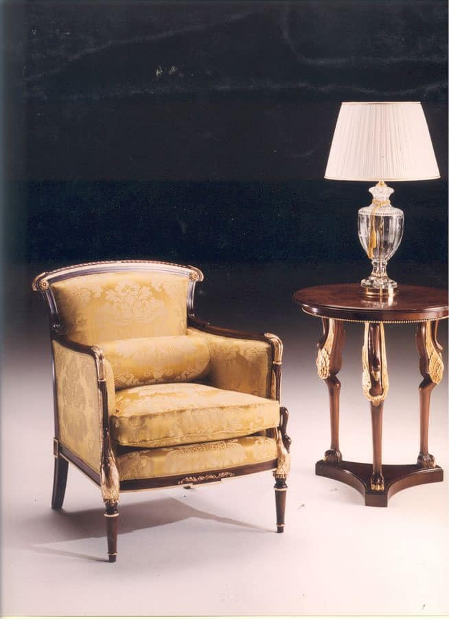 2985 SWAN ARMCHAIR, Classic style armchair, for living rooms