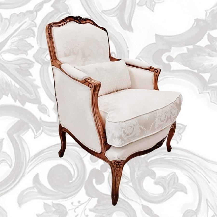 3120 armchair, Louis XV classic style armchair