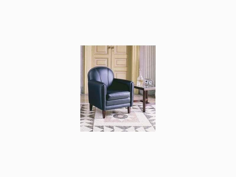 821, Armchair with elegant finish, for hotel