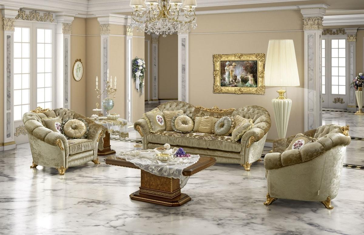 Aida armchair, Luxury classic armchair