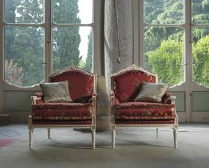 Alice armchair, Armchair with Louis XVI style